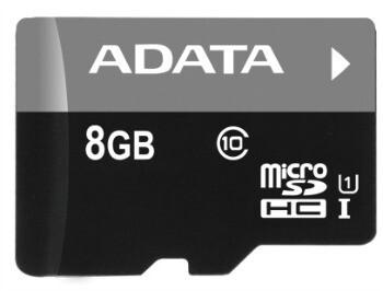 Card Memorie microSDHC ADATA 8GB Clasa 10 UHS1 cu adaptor SD AUSDH8GUICL10-R
