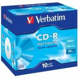 Verbatim CD-R  [ 800MB, 40x, jewel case, 10 bucati ]