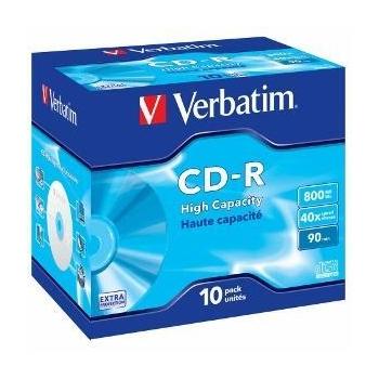 Verbatim CD-R  [ 800MB, 40x, jewel case, 10 bucati ]