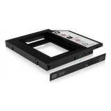 Adaptor Icy Box pentru extensie laptop SSD/HDD 2.5'', negru