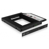 Icy Box Adapter for 2.5'' HDD/SSD Notebook extension (9.5 mm dvd slot), Black