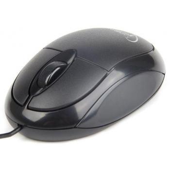 Mouse Gembird Optic 3 butoane 1000dpi USB black MUS-U-01
