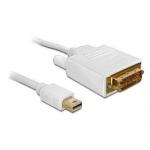 Delock Cable mini Displayport > DVI 24pin male 1m
