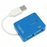LOGILINK - Hub USB 2.0 ''smile'' albastru