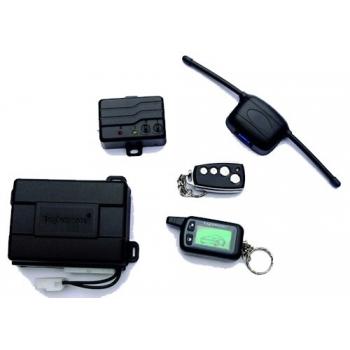 Alarma auto CL7000 cu pager, antiscanare, anticarjack,Sirena multiton, senzor soc cu doua praguri reglaj separat,O telecomanda + un pager LED, toate releele incluse