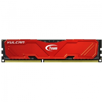 Memorie RAM TeamGroup, DIMM, DDR3, 8GB, 1600MHz, CL11, VULCAN RED, 1.5V