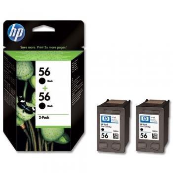 Pachet Cartuse Cerneala HP Nr. 56 Black 2 Bucati 450 Pagini for DeskJet 450 C9502AE