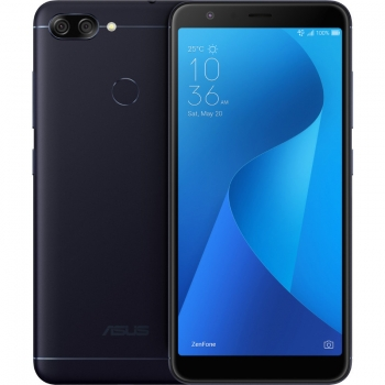 "Smartphone Asus ZenFone Max Plus M1 Dual SIM 5.7"" Full HD+ aspect 18:9 Qcta Core1.5GHz memorie interna 32GB TriCamera 16MPx+8Mpx+8MPx baterie 4130 mAh Android Deepsea Black"
