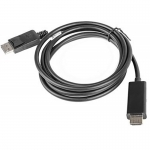 Cablu video Lanberg DisplayPort Male - HDMI Male, 1.8m, negru CA-DPHD-10CC-0018-BK