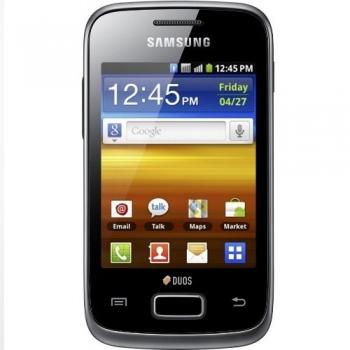 "Telefon Mobil Samsung Galaxy Y S6102 Duos Black Dual SIM 3.14"" 240 x 320 832MHz Camera Foto 3.15MPx Android v2.3 SAMS6102BLK"