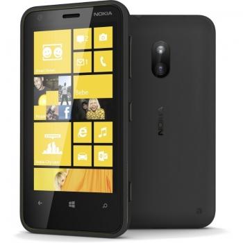 "Telefon Mobil Nokia Lumia 620 Black 3G 3.8"" 480 x 800 TFT Krait Dual Core 1GHz memorie interna 8GB Windows Phone 8 NOK620BLK"