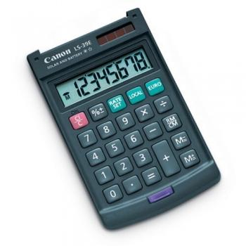 Calculator de birou Canon LS-39E 8 Digit Dual Power Converter Euro BEE11-5800210