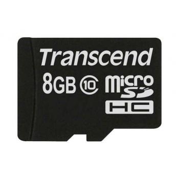 Card Memorie MicroSDHC Transcend 8GB Clasa 10 TS8GUSDC10M