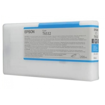 Cartus Cerneala Epson T6532 Cyan 200ml for Stylus Pro 4900 C13T653200