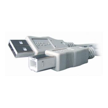 Cablu USB imprimanta USB2.0 A - B 3m white Gembird CC-USB2-AMBM-10