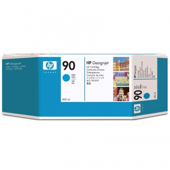 Cartus Cerneala HP Nr. 90 Cyan 400 ml for Designjet 4000, Designjet 4020, Designjet 4020PS, Designjet 4500, Designjet 4520, Designjet 4520 Scanner, Designjet 4520HD, Designjet 4520PS C5061A