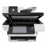 Scanner HP Digital Sender Flow 8500 fn1 Document Capture Workstation; CCD flatbed, CIS ADF, 60ppm/120ipm (b&w, colour, 200dpi); max 600dpi optic, media 49-120g/m2; encrypted HDD, 1.5GB RAM; touch-screen control panel 20.3cm, integrated keyboard; 100 s