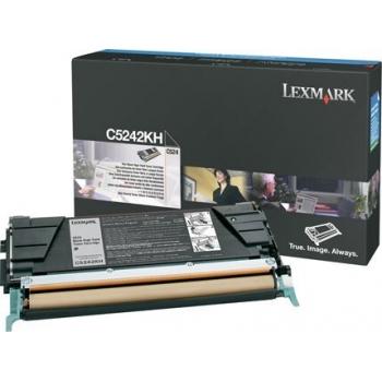 Cartus Toner Lexmark C5242KH Black High Yield 8000 pagini for C524, C524DN, C524DTN, C524N