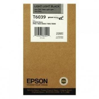 Cartus Cerneala Epson T6039 Light Light Black 220 Pagini for Stylus Pro 7800, Stylus Pro 7880, Stylus Pro 9800, Stylus Pro 9880 C13T603900