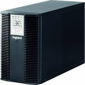 UPS Legrand KEOR LP, Tower, 2000VA/1800W, On Line Double Conversion, Sinusoidal, PFC, 1 RS232 serial port, 1 slot for networkinterface connection (ex. CS121), IN 1x C13, OUT 6x IEC C13 & 2xSHK (Optional battery cabinet 1x310960)