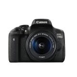 "Camera foto Canon DSLR EOS 750D + EF-S 18-55 IS STM Black, 24.2 MP, CMOS,3"" vari-angle LCD touch screen, DIGIC 6, 5 cadre/ sec, ISO 100- 12800 (maxim 25600), compatibil SD/SDHC/SDXC/UHS, 19 puncte focus, 315 zone de masurare, acumulator Li-ion LP-E17"