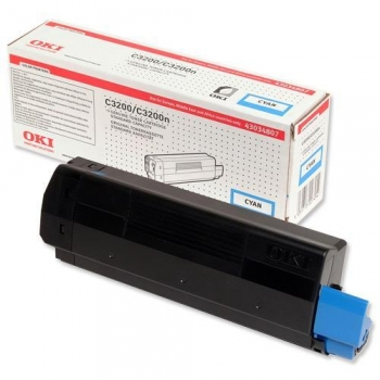 Cartus Toner Oki 43034807 Cyan 1500 Pagini for C3200