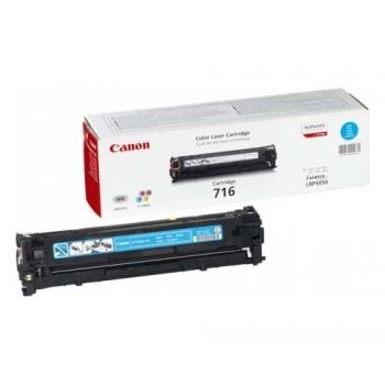 Cartus Toner Canon CRG-716C Cyan 1500 Pagini for LBP 5050, LBP 5050N, MF 8030CN, MF 8050CN CR1979B002AA
