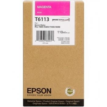 Cartus Cerneala Epson T6113 Magenta 110ml for Stylus Pro 7400, 7450, 9400, 9450 C13T611300