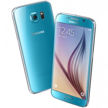 "Telefon Mobil Samsung Galaxy S6 G9200 Duos Blue 4G Dual SIM 5.1"" 1440 x 2560 Octa Core 2.1GHz memorie interna 32GB Camera Foto 16 MPx Android v5.0 QM_110021"