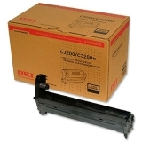 Unitate Cilindru Oki 42126665 Black 14000 Pagini for C3200+Cartus Toner Black 1500 Pagini