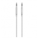 Belkin 1.2m 3.5mm Premium Braided Audio Cable -Jack to Jack Silver