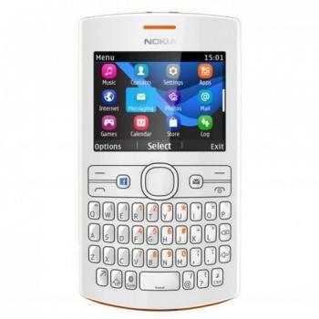 Telefon Mobil Nokia Asha 205 Orange White tastatura qwerty NOK205OW