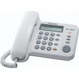 Telefon analogic Panasonic KX-TS580FXW Caller ID alb