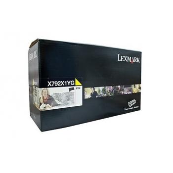 Cartus Toner Lexmark X792X1YG Yellow Extra High Yield Return Program 20000 pagini for X792