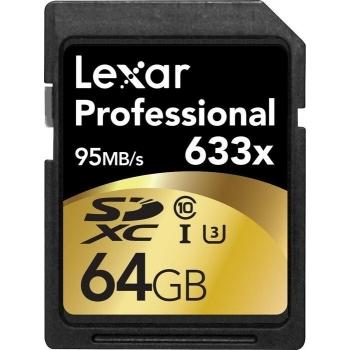 Lexar 64GB SDXC HP CLS10 UHS-I 95MB/s LSD64GCBEU633