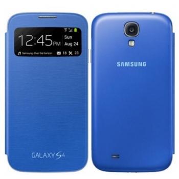 Husa Samsung S-View Light Blue pentru Galaxy S4 i9500, I9505
