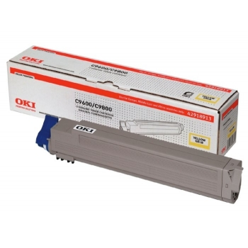 Cartus Toner Oki 42918913 Yellow 15000 Pagini for C9600DN, C9600HDN, C9600HDTN, C9600N, C9650DN, C9650HDN, C9650HDTN, C9650N, C9800HDN, C9800HDTN, C9850HDN, C9850HDTN, C9850MFP