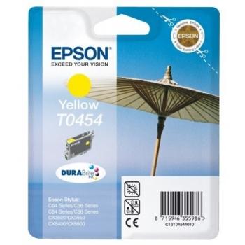 Cartus Cerneala Epson T0454 Yellow capacitate 250 pagini CX3600, CX3650, C64, C66, C84, C86, CX6400, CX6600 C13T04544010