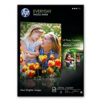 Hartie Foto HP Q5451A Everyday Semi-glossy Photo Paper Dimensiune: A4 Numar coli: 25