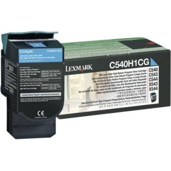 Cartus Toner Lexmark C540H1CG Cyan 2000 pagini for C540, C543, X543, C544, X544, C546, X546, X548