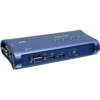 Switch KVM TRENDnet TK-409K 4 Porturi VGA , USB