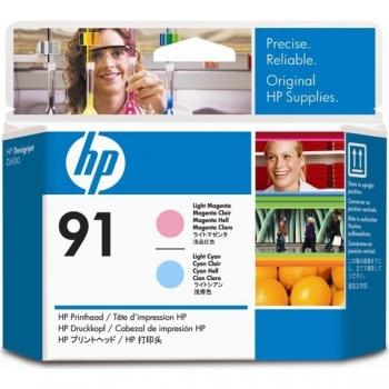 Cap Printare HP Nr. 91 Light Magenta&Light Cyan for Designjet Z6100 A0 42', Z6100 A0 60', Z6100PS A0 42', Z6100PS A0 60' C9462A