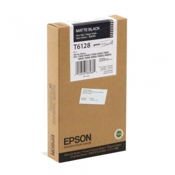 Cartus Cerneala Epson T6128 Matte Black 220ml for Stylus Pro 7400, 7800, 9400, 9800 C13T612800