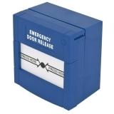 Buton aplicabil din plastic ABK-90RE pentru iesire de urgenta Functionare: normal inchis/normal deschis albastra, nu necesita sticla, revenire cu cheie