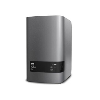 External HDD WD My Book Duo, 3.5', 8TB, USB 3.0, black WDBLWE0080JCH
