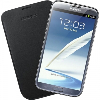 Husa Samsung pentru N7100 Galaxy Note II din piele negru EFC-1J9LBEGSTD