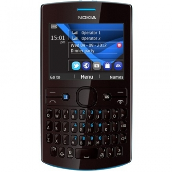 Telefon Mobil Nokia Asha 205 Cyan Dark Rose Dual SIM tastatura qwerty NOK205DSDR