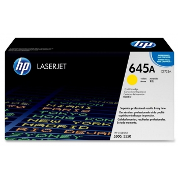 Cartus Toner HP Nr. 645A Yellow 12000 Pagini for Color LaserJet 5500, 5500DN, 5500DTN, 5500HDN, 5500N, 5550, 5550DN, 5550DTN, 5550HDN, 5550N C9732A