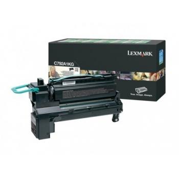 Cartus Toner Lexmark C792A1KG Black Return Program 6000 pagini for C792, X792
