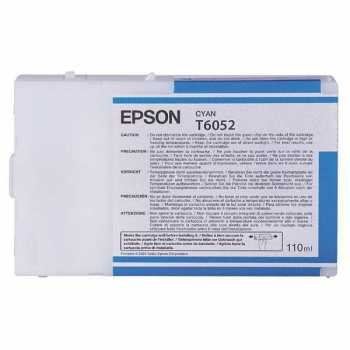 Cartus Cerneala Epson T6052 Cyan 110ml for Stylus Pro 4800, 4880 C13T605200